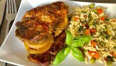 Karkówka pieczona w ketchupie Snack Recipes, Snacks, Calzone, Chorizo, Pork, Food And Drink, Rice, Beef, Chicken