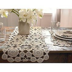 Country Living Modern Countryside Crochet Table Runner 13in x 39in SEARS 12.99