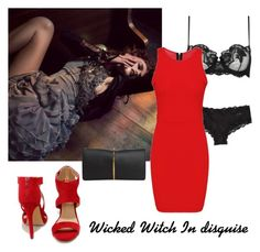 """""""The Wicked Witch in disguise"""" by jessica-skye-1 ❤ liked on Polyvore featuring La Perla, Calvin Klein, Liliana and Nina Ricci"""