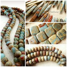 Gorgeous African opal jasper beads - available in a variety of shapes and sizes at Plum Bazaar, 123 E. Main St., Branson and at www.plumbazaar.etsy.com Stone Beads, Jasper, Plum, Opal, Beaded Necklace, African, Shapes, Etsy, Jewelry