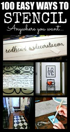 100 Ways to Stencil Anywhere - Redhead Can Decorate