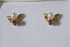 shopgoodwill.com: Dashing Pair Of Real Pearl