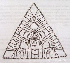 Треугольный мотив крючком. Подборка схем