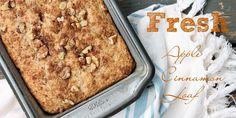 I Can't Help Myself {Fresh Apple Cinnamon Loaf}