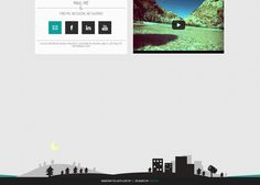 "The portfolio of George Tsimenis features a fun cityscape Footer that hints the keyboard control options to browse the site. George tells us: ""Well, I recently uploaded my personal portfolio site. The thing is that during the design process I decided to make the footer a little playful (not too much). So in this footer you have a rising moon, a clickable projector, a bubble notifying you to use the keyboard shortcuts and a superhero rising with a nice CSS3 animation."" Footer Design, Portfolio Site, Keyboard Shortcuts, Personal Portfolio, The Thing Is, Design Process, Social Networks, Bubble, Moon"
