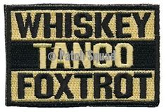 Patch Squad Men's Whiskey Tango Foxtrot Embroidered Tactical Morale Patch