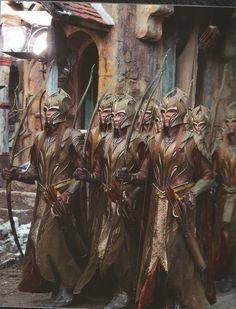 Thranduil directed some soldiers to build winter shelters for the Laketown refugees, (Tolkien) Mirkwood Elves, Lotr Elves, Jrr Tolkien, High Fantasy, Medieval Fantasy, Larp, Elf Armor, Beau Film, Tauriel