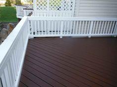 Dark wood deck