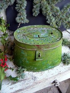 Vintage Trommel from the German word for drum, a screened cylinder used to separate materials by size.