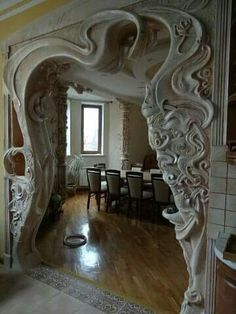 Like meringue...Art Nouveau doorway