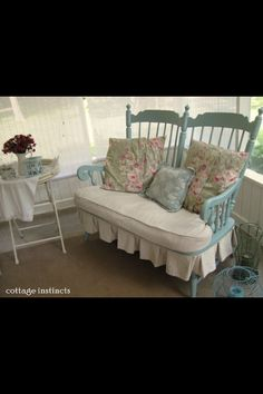 Turn two old chairs into a 2 seater !