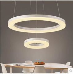 449.99$  Watch now - http://aliop4.worldwells.pw/go.php?t=32668170054 - LED 31W-40W Acrylic Creative Personality Sitting Room Dining-room Lamp Bedroom Atmosphere Circle Pendant Lamps 85-265V  @-9