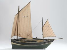 Model of the Zulu fishing boat 'Defiance' BF 460 out of its display case at the Science Museum, South Kensington, London. (Courtesy of George Gardiner Wood III)