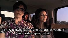 When nothing is more important than taking a selfie.   20 Truly Distressing Kardashian First-World Problems