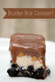 Homemade Buster Bar Dessert Recipe. A delicious salty & sweet chocolate combination!! -via momendeavors.com