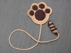 Paw of a puppy Crochet Bookmark Gift for children от ElenaGift