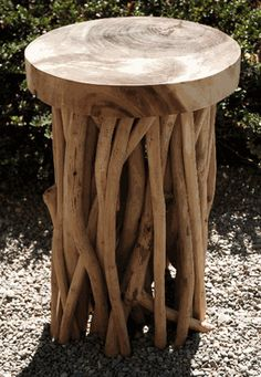 Driftwood Stool 20in-Save-on-Crafts (really cool inexpensive stuff) #Anthropologie #PinToWin