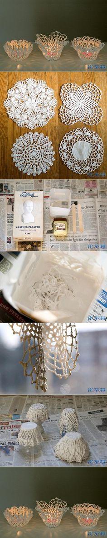 DIY Doily Candle Holder DIY Projects | UsefulDIY.com