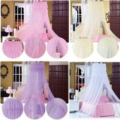 Lace Hight Quality Princess Mosquito Net Canopy Bites Protect Double King Size