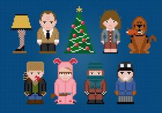 Looking for your next project? You're going to love A Christmas Story Cross Stitch by designer pxlpwr.