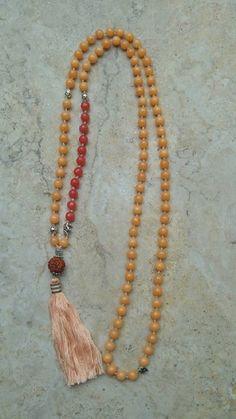 Japamala 108 contas - Jade e rudraksha