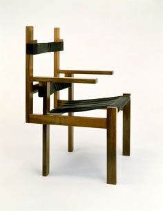 design-is-fine:  Marcel Breuer, Lath chair, 1924.Tischlerei Bauhaus Weimar. Collection bauhaus Archiv Breuer carried out his first functional analyses on correct sitting posture with his Wood-Slat Chair, which was inspired by the De Stijl movement. The chair became one of the best-known furniture designs of the Weimar period.