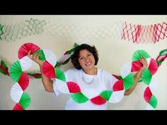 Manualidades / Diy / Adornos De Papel / Cadenas De Papel - YouTube Diy Adornos, Wire Crafts, Day Of The Dead, Flower Crafts, Creative Crafts, Diwali, Paper Flowers, Salons, Christmas Crafts