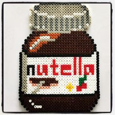 Nutella jar hama perler beads by famkese