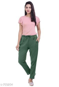 Checkout this latest Women Trousers Product Name: *Stylish Cotton Flex Women's Pant* Fabric: Cotton Flex Waist Size: S- 22 in to 26 in M - 26 in to 30 in L - 30 in to 34 in XL - 34 in to 38 in XXL - 38 in to 42 in 3XL- 42 to 46 in Length: Up To 40 in           Type: Stitched Description: It Has 1 Piece Of Women's Pencil Pant Pattern: Solid Country of Origin: India Easy Returns Available In Case Of Any Issue   Catalog Rating: ★4 (464)  Catalog Name: Stylish Premium Cotton Flex Pencil Pants Vol 1 CatalogID_86466 C79-SC1034 Code: 123-759254-957