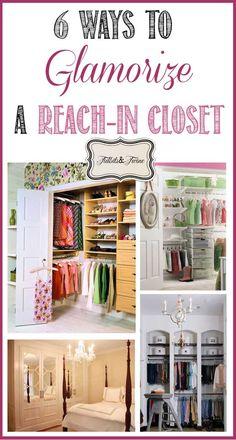 TIDBITS TWINE 6 Ways to Glamorize a Reach In Closet How to Glamorize a Reach In Closet