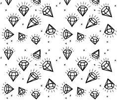 Diamonds fabric by taraput on Spoonflower - custom fabric