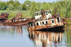 Chernobyl disaster ship graveyard