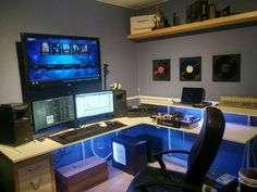 Video game room ideas for game lovers, diy funny setup gaming desk boys organization