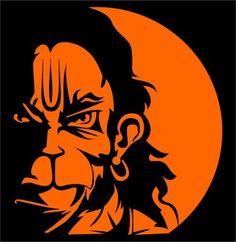 iDesign Hanuman Face 5inch Windows Car Sticker   Price Compare India - 41814385