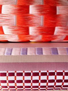 Fringes & Floats | Alissa+Nienke | A+N Weaving Patterns, Textile Patterns, Print Patterns, Textile Art, Weaving Loom Diy, Hand Weaving, Acoustic Wall, Textiles, Weaving Projects