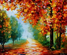 """EVANESCING SIGHT — PALETTE KNIFE Oil Painting On Canvas By Leonid Afremov - Size 36""""x30"""""""
