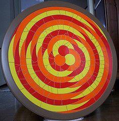 Mosaico LSD By Operrio da Arte (Operario da Arte) Tags: wood red brazil orange yellow brasil cherry table mosaic laranja mosaico vermelho amarelo azulejo madeira mesa antiguidade antigo cerejeira renovao tortilho