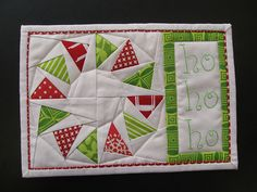 Mug Rug by felicity quilts
