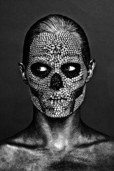 Black Halo - Official Site and Online Store Wave Gotik, Vampire Fashion, Face Jewels, Black Skulls, Grunge Hair, Dark Beauty, Green Hair, Face Art, Makeup Art