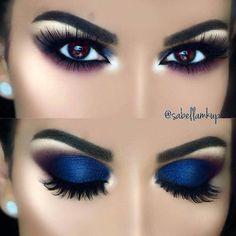 Gorgeous Makeup: Tips and Tricks With Eye Makeup and Eyeshadow – Makeup Design Ideas Smokey Eye Makeup Look, Smokey Eyes, Eye Makeup Steps, Blue Eye Makeup, Eyeshadow Makeup, Glitter Makeup, Blue Smokey Eye, Blue Makeup Looks, Blue Eyeshadow