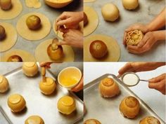 ways to fold the test Turkish Recipes, Food Art, Doughnut, Pudding, Sweets, Bread, Fruit, Cooking, Turkish Food Recipes
