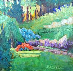 """Study for Cindy's Garden by Roxanne Steed Oil ~ 8"""" x 8"""""""