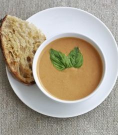 creamy (vegan) tomato basil soup - the veggie house