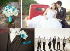 Turquoise Wedding Ideas from rusticweddingchic...
