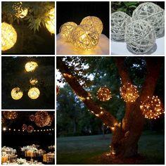 Wonderful DIY Decorative String Chandelier With Yarn and Balloon