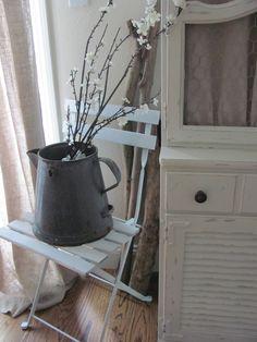 DIY: French bistro Ikea Tarno Folding Chair in white