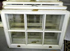 Site with different ways to re-use old windows.
