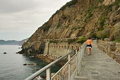 Walking the Via dell' Amore (Path of Love) between Riomaggiore and Manarola - Italy