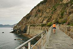 Walking the Via dell' Amore (Path of Love) between Riomaggiore and Manarola - Italy