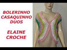 BOLERINHO / CASAQUINHO DUOS EM CROCHÊ. Link download: http://www.getlinkyoutube.com/watch?v=ES-o4vSNKLo
